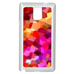 Geometric Fall Pattern Samsung Galaxy Note 4 Case (white) by DanaeStudio