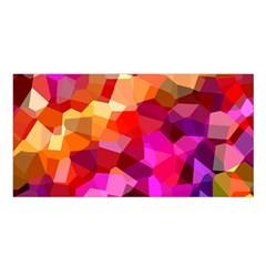 Geometric Fall Pattern Satin Shawl by DanaeStudio