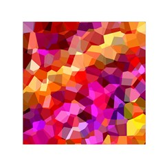 Geometric Fall Pattern Small Satin Scarf (square)  by DanaeStudio