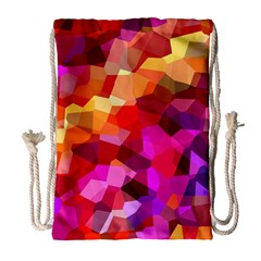 Geometric Fall Pattern Drawstring Bag (large) by DanaeStudio