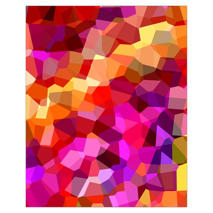 Geometric Fall Pattern Drawstring Bag (Small)