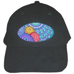 India Ornaments Mandala Balls Multicolored Black Cap Front