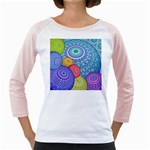 India Ornaments Mandala Balls Multicolored Girly Raglans Front