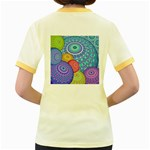 India Ornaments Mandala Balls Multicolored Women s Fitted Ringer T-Shirts Back