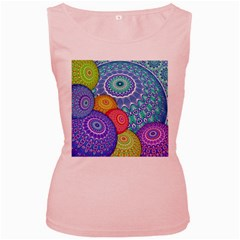 India Ornaments Mandala Balls Multicolored Women s Pink Tank Top by EDDArt