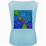 India Ornaments Mandala Balls Multicolored Women s Baby Blue Tank Top Back
