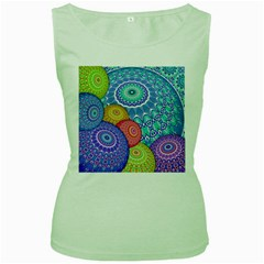 India Ornaments Mandala Balls Multicolored Women s Green Tank Top by EDDArt
