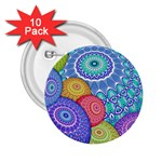 India Ornaments Mandala Balls Multicolored 2.25  Buttons (10 pack)  Front