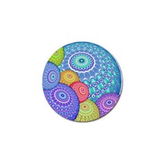 India Ornaments Mandala Balls Multicolored Golf Ball Marker (4 Pack) by EDDArt