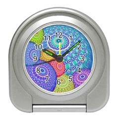 India Ornaments Mandala Balls Multicolored Travel Alarm Clocks by EDDArt