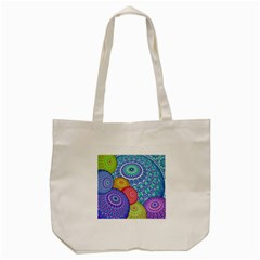 India Ornaments Mandala Balls Multicolored Tote Bag (cream) by EDDArt