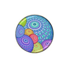 India Ornaments Mandala Balls Multicolored Hat Clip Ball Marker (10 Pack) by EDDArt