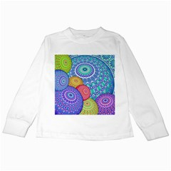 India Ornaments Mandala Balls Multicolored Kids Long Sleeve T Shirts