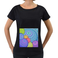 India Ornaments Mandala Balls Multicolored Women s Loose Fit T Shirt (black) by EDDArt
