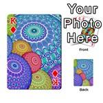 India Ornaments Mandala Balls Multicolored Playing Cards 54 Designs  Front - DiamondK