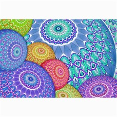 India Ornaments Mandala Balls Multicolored Collage Prints