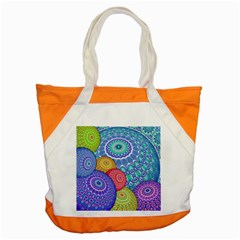 India Ornaments Mandala Balls Multicolored Accent Tote Bag