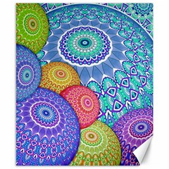 India Ornaments Mandala Balls Multicolored Canvas 8  X 10
