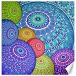 India Ornaments Mandala Balls Multicolored Canvas 12  x 12   12 x12 Canvas - 1