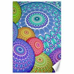 India Ornaments Mandala Balls Multicolored Canvas 20  X 30   by EDDArt