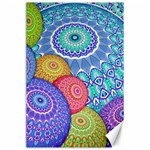 India Ornaments Mandala Balls Multicolored Canvas 24  x 36  36 x24 Canvas - 1