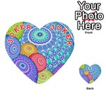 India Ornaments Mandala Balls Multicolored Playing Cards 54 (Heart)  Front - Joker2