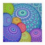 India Ornaments Mandala Balls Multicolored Medium Glasses Cloth (2-Side) Front