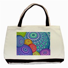 India Ornaments Mandala Balls Multicolored Basic Tote Bag (two Sides)