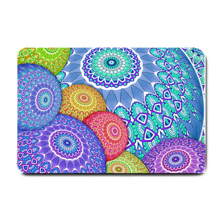 India Ornaments Mandala Balls Multicolored Small Doormat