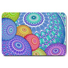 India Ornaments Mandala Balls Multicolored Large Doormat