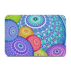 India Ornaments Mandala Balls Multicolored Plate Mats by EDDArt