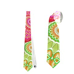 India Ornaments Mandala Balls Multicolored Neckties (one Side)  by EDDArt