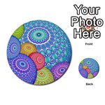 India Ornaments Mandala Balls Multicolored Multi-purpose Cards (Round)  Back 39