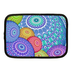 India Ornaments Mandala Balls Multicolored Netbook Case (medium)
