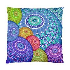 India Ornaments Mandala Balls Multicolored Standard Cushion Case (one Side)