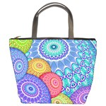 India Ornaments Mandala Balls Multicolored Bucket Bags Front