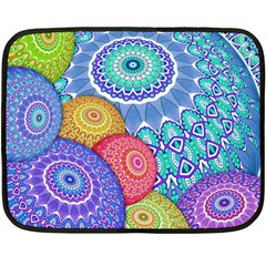 India Ornaments Mandala Balls Multicolored Fleece Blanket (mini)