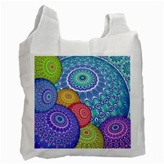 India Ornaments Mandala Balls Multicolored Recycle Bag (two Side)  by EDDArt