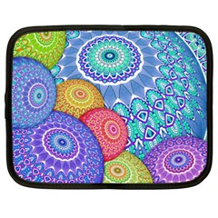 India Ornaments Mandala Balls Multicolored Netbook Case (xxl)  by EDDArt