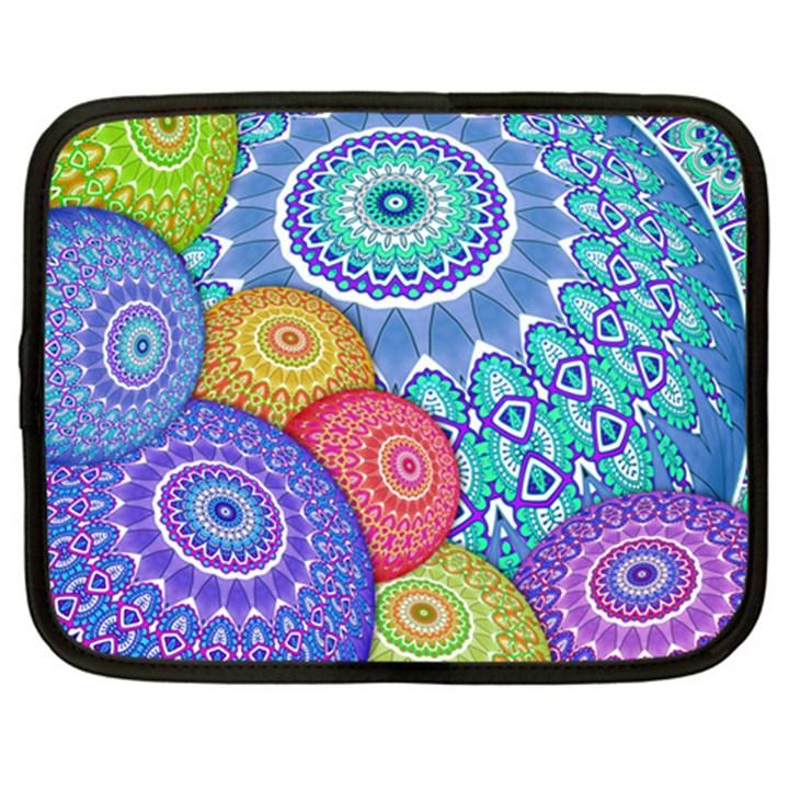 India Ornaments Mandala Balls Multicolored Netbook Case (XXL)