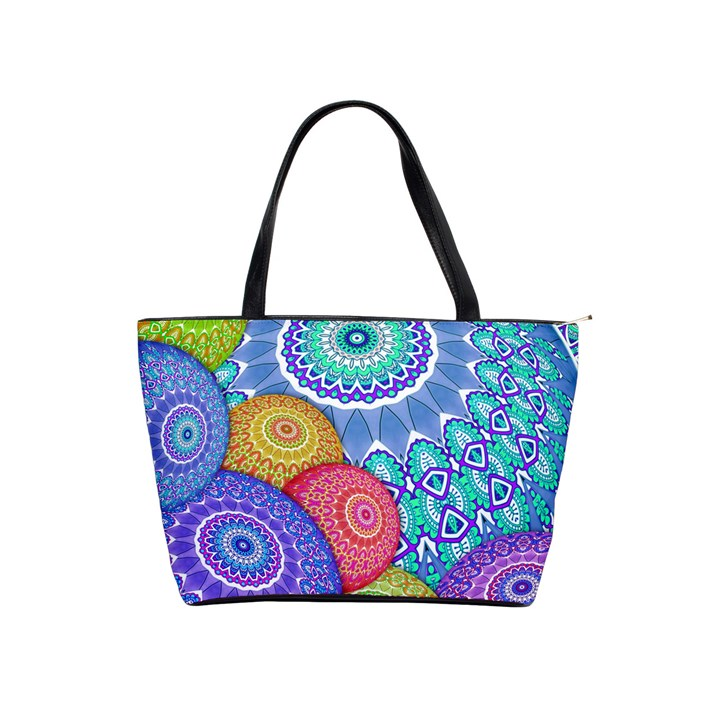 India Ornaments Mandala Balls Multicolored Shoulder Handbags