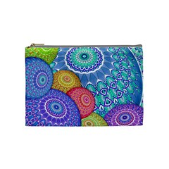 India Ornaments Mandala Balls Multicolored Cosmetic Bag (medium)  by EDDArt