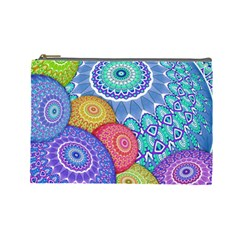 India Ornaments Mandala Balls Multicolored Cosmetic Bag (large)  by EDDArt