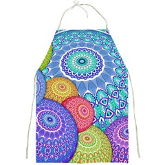 India Ornaments Mandala Balls Multicolored Full Print Aprons by EDDArt