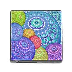 India Ornaments Mandala Balls Multicolored Memory Card Reader (square) by EDDArt