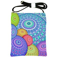 India Ornaments Mandala Balls Multicolored Shoulder Sling Bags by EDDArt