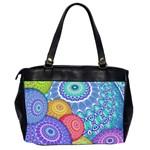 India Ornaments Mandala Balls Multicolored Office Handbags (2 Sides)  Back