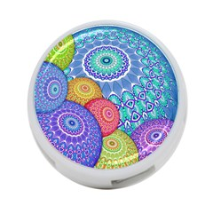 India Ornaments Mandala Balls Multicolored 4 Port Usb Hub (one Side)