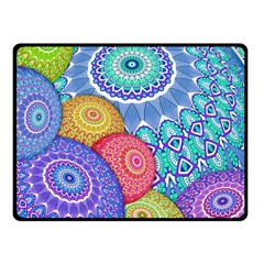 India Ornaments Mandala Balls Multicolored Fleece Blanket (small) by EDDArt
