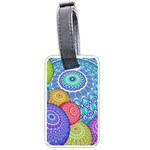 India Ornaments Mandala Balls Multicolored Luggage Tags (Two Sides) Front